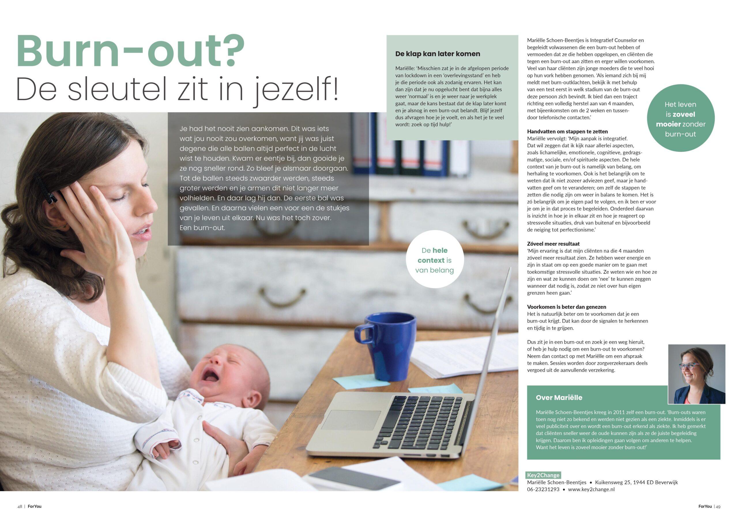 Mooi artikel in het For You Magazine!